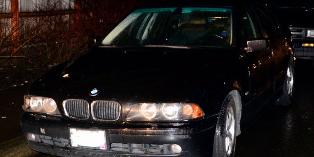 The car in which the 28-year-old woman was reportedly found.
