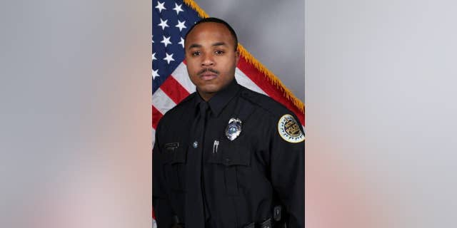 Nashville Police Officer Terrance McBride, a 3-year veteran, was shot in the shoulder while serving an arrest warrant.