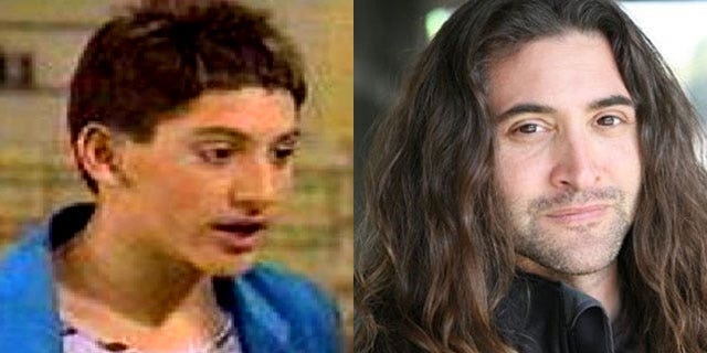 """Andrew Koenig when he was on """"Growing Pains"""" and now."""