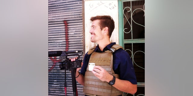 This photo posted on the website freejamesfoley.org shows journalist James Foley in Aleppo, Syria, in July, 2012. The family of an American journalist says he went missing in Syria more than one month ago while covering the civil war there.
