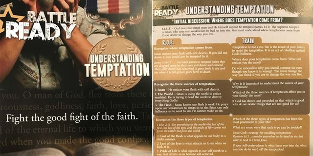 The pamphlets featured anti-gay, hateful messages.