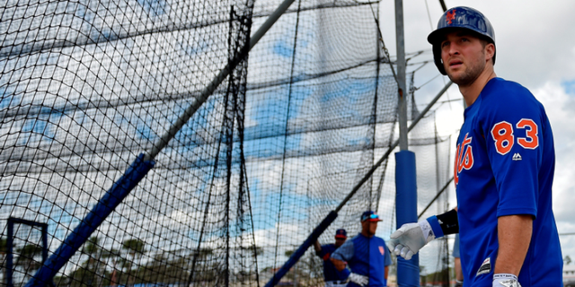 The Mets announced in January that Tim Tebow was one of nine players invited to its spring training in Florida.