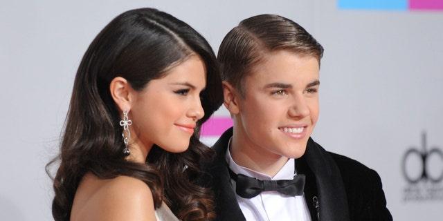 Selena Gomez and Justin Bieber in a November 2011 file photo.
