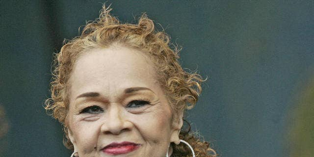 FILE: Etta James in seen during the 2006 New Orleans Jazz and Heritage Festival in New Orleans on Saturday, April 29, 2006.(AP Photo/Jeff Christensen)