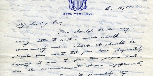 Former President George H.W. Bush sent Barbara a love letter that she kept in her scrapbook.