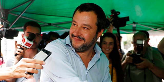 League personality Matteo Salvini has pushed for worse restrictions on immigration.