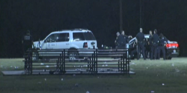 At least five people, including a pregnant woman, were shot at a Texas football game Sunday night, police said.