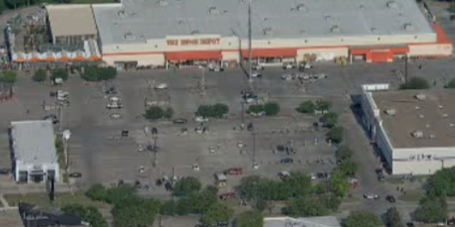 The incident took place around 4 p.m. near a Home Depot in Dallas off Forest Lane and Central Expressway, Fox 4 reported.