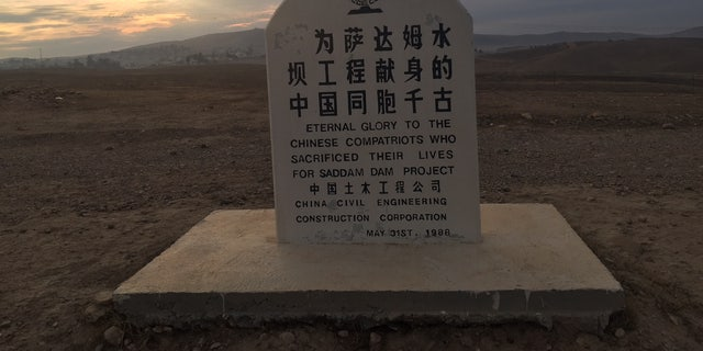 Chinese memorial for workers who died constructing Mosul Dam