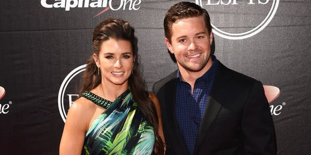 Danica Patrick with driver Ricky Stenhouse, Jr. at the 2015 ESPYS at Microsoft Theater on July 15, 2015 in Los Angeles, Calif.