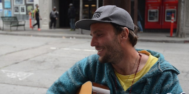 Daniel Reitz, 26, is originally from Virginia and has been on and off the streets for the last six years.
