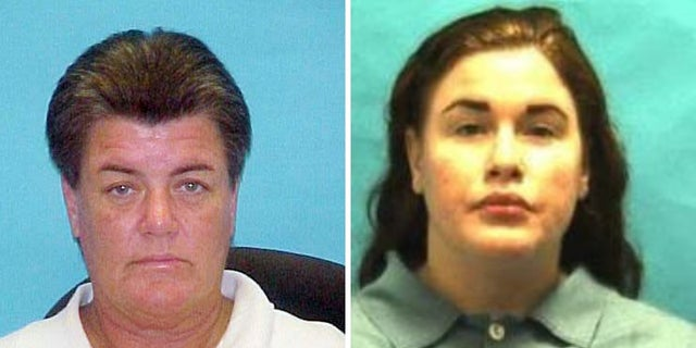 Nikolas Cruz's biological mother Brenda Woodard [left] and his half-sister Danielle Woodard [right] have lengthy criminal histories.