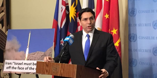 Israeli UN Ambassador Danny Danon called on the world powers to send a strong message to Iran.