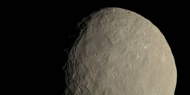 This image of Ceres as seen by NASA's Dawn spacecraft shows how the dwarf planet would appear to human eyes.