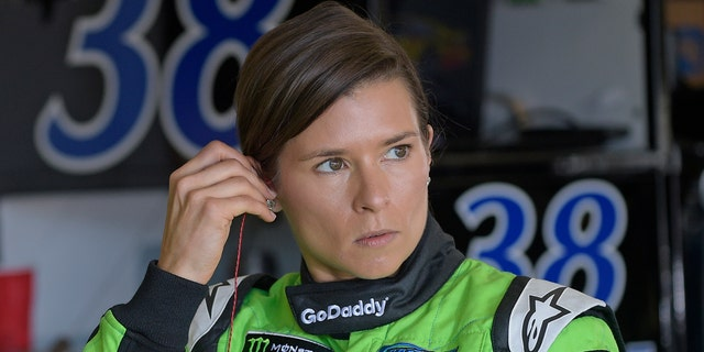 Danica Patrick prepares for practice for the NASCAR Daytona 500 Cup Series auto race at Daytona International Speedway in Daytona Beach, Fla., Saturday, Feb. 17, 2018.