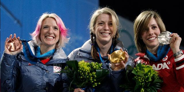 Shannon Bahrke won with rosey locks in 2010.