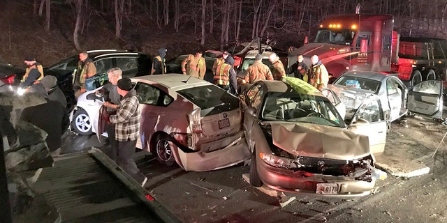 The crash on Interstate 270 in Maryland involved 20 vehicles.