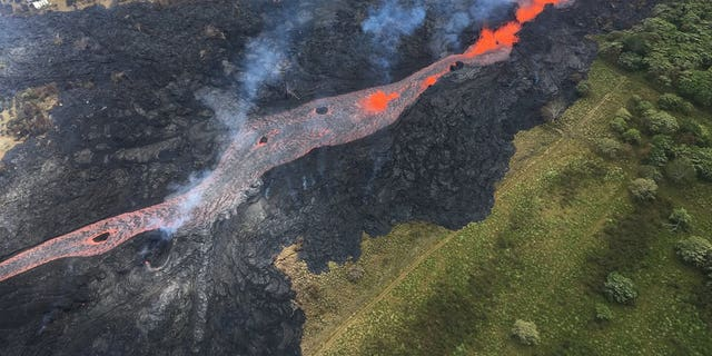 The lava flows created brush fires. Lava from fissure 20 also entered the ocean.