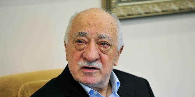 Islamic cleric Fethullah Gulen speaks to members of the media in Saylorsburg, Pa. Sunday.