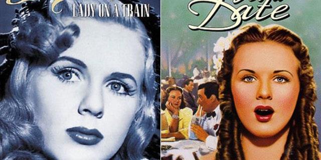 Deanna Durbin is seen on movie covers.