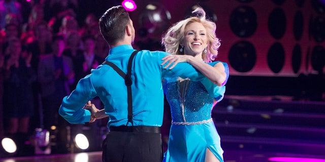 "Debbie Gibson dances with pro Alan Bersten on ""Dancing with the Stars."""