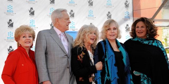 (L-R): Debbie Reynolds , Robert Osborne, Connie Stevens, Kim Novak and Lainie Kazan.