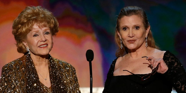 Debbie Reynolds, left, and Carrie Fisher both died in December 2016 within a day of each other. Fisher died at age 60 and Reynolds was 84.