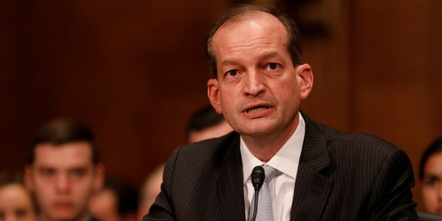 Labor Secretary Alex Acosta is formerly the dean of the Florida International University College of Law. During his confirmation hearings, he was grilled about the Epstein plea deal.