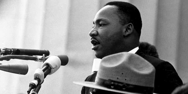 Dr. Martin Luther King Jr. speaks at the Civil Rights March on Washington, D.C. (8/28/1963 NA)
