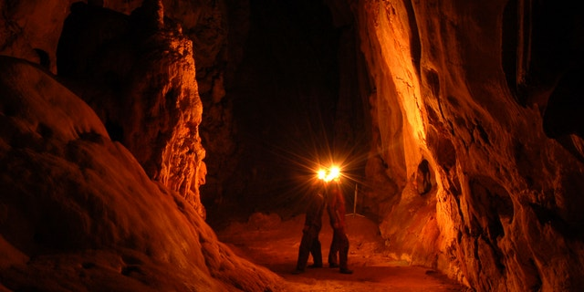 "Cave ""Jubilejnaja"". Krum,Ukraine. 80 m deep."
