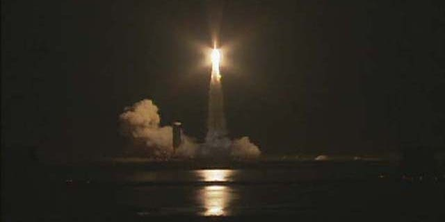 Jan. 19, 2012: The Air Force's Wideband Global SATCOM 4 (WGS-4) satellite blasts off aboard a Delta 4 rocket in this screenshot from a United Launch Alliance webcast.