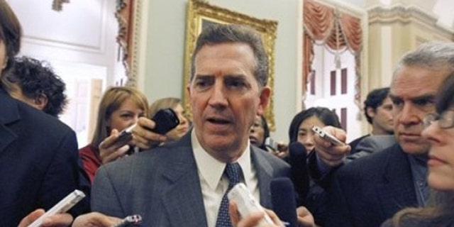 In this Nov. 16, 2010 photo, Sen. Jim DeMint talks with reporters on Capitol Hill in Washington.