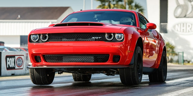 The Demon is the only production car that can lift its front wheels off the ground.
