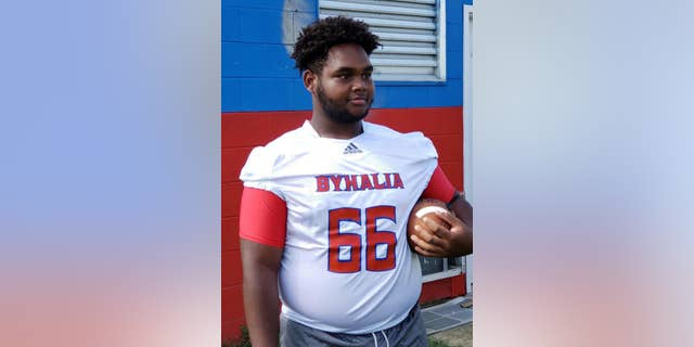 Byhalia High School said that 16-year-old Dennis Mitchell died after collapsing on the field during a football game on Friday.