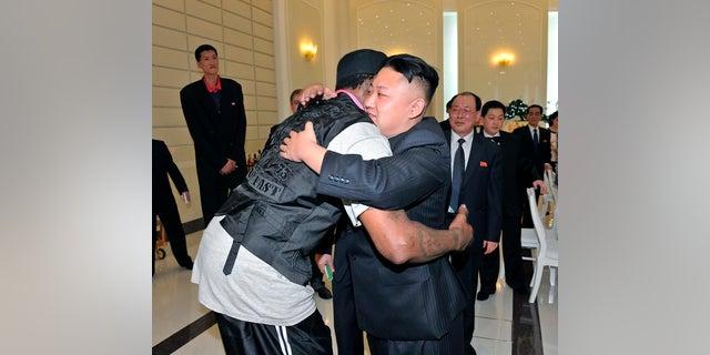 Dennis Rodman said Kim Jong Un trusts him.