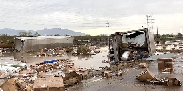 Investigators are working to determine the cause of a train derailment near Tucson, Arizona.