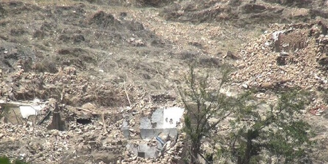 Buildings destroyed by MOAB