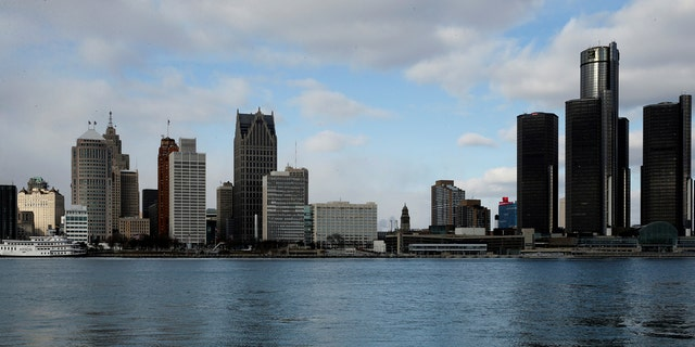 The skyline of Detroit is seen above. The city is not enforcing a new ordinance that seems to ban Airbnb rentals.