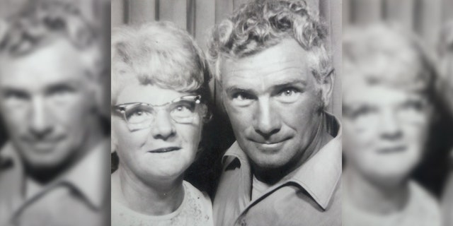 Amy and Arnold Hardy's ashes were buried side-by-side in plots at a churchyard.
