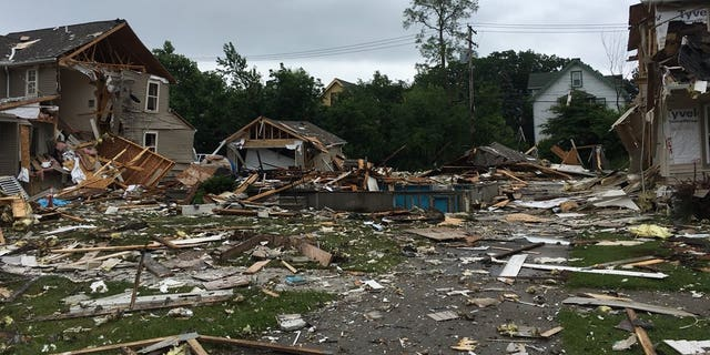 At least one person was killed in a house explosion in Cleveland on Sunday.