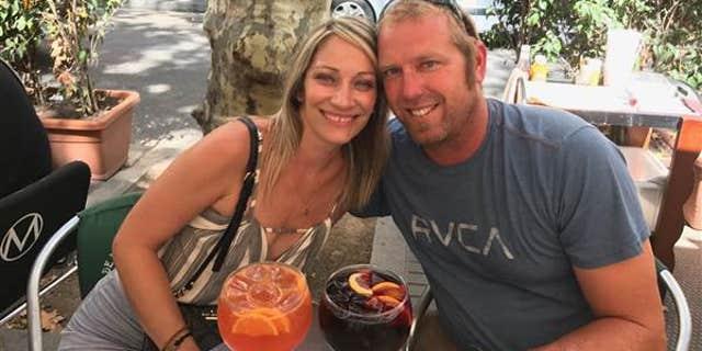 Jared Tucker with his wife, Heidi Nunes.