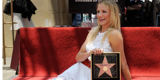 Diaz receives her star on the Hollywood Walk of Fame in 2009.