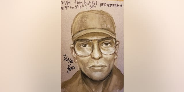 Police released a sketch of the shooter accused of killing Dr. Mark Hausknecht on Friday.  (Houston Police)
