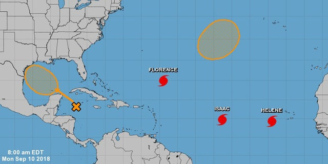 Three hurricanes -- Florence, Isaac and Helene -- are churning across the Atlantic.