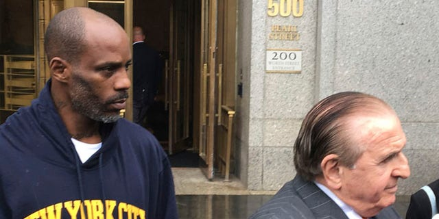 Rapper DMX leaving federal court on Friday, July 14, after pleading not guilty to tax evasion.