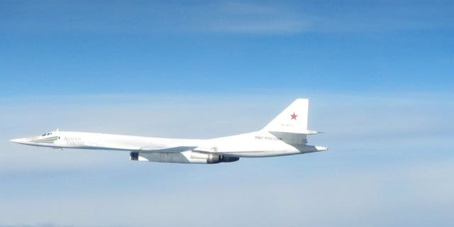 Royal Air Force fighter jets intercepted Russian nuclear-capable bombers that buzzed the British coastline along the North Sea on Thursday.