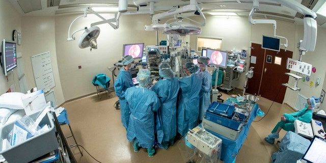 Nebraska Medicine rhinologist Dr. Christie Barnes and neurosurgeon Dr. Dan Surdell operated on Jackson a few weeks ago.