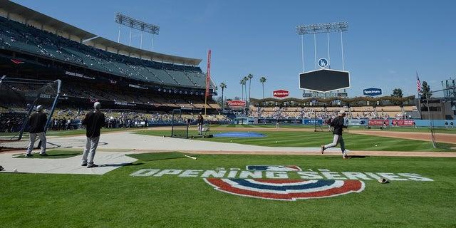 Los Angeles Dodgers stadium in 2018