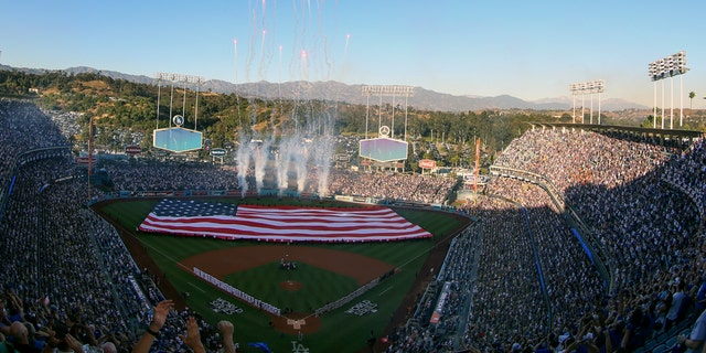 Tuesday's game was the first World Series game at Dodger Stadium since 1988