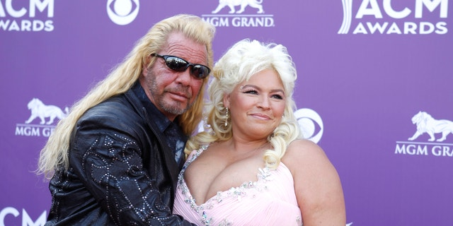 Duane and Beth Chapman arrive at the 48th ACM Awards in Las Vegas, April 7, 2013.